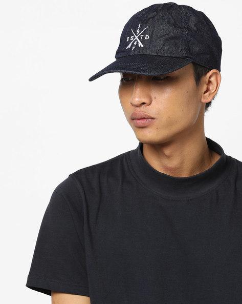 Denim Baseball Cap With Embroidery By WRANGLER ( Indigo )