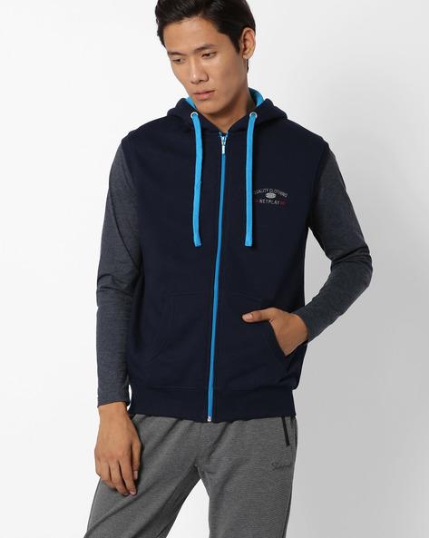 Regular Fit Hooded Sweatshirt By NETPLAY ( Navy )