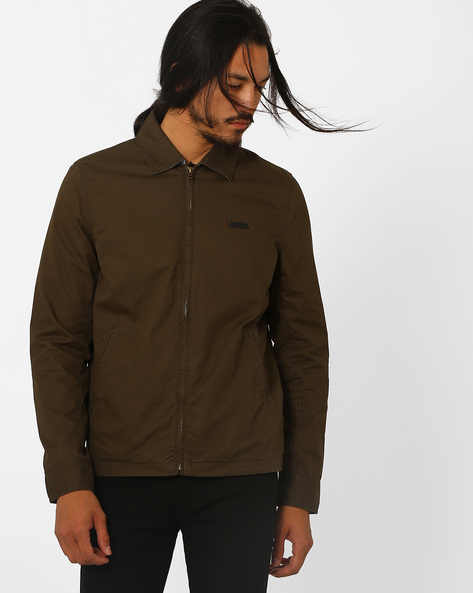 Zip-Front Regular Fit Jacket By Lee ( Green )