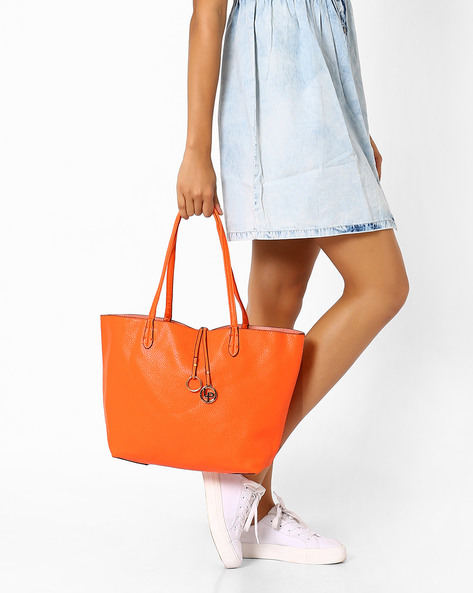 Shoulder Bag With Sling Bag By Lino Perros ( Orange )
