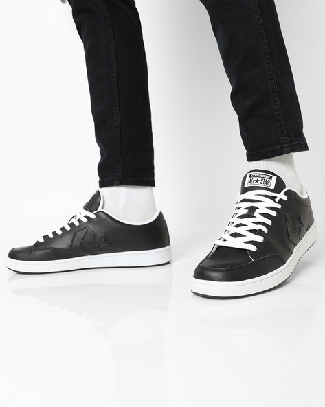 Panelled Lace-Up Shoes By CONVERSE ( Black )