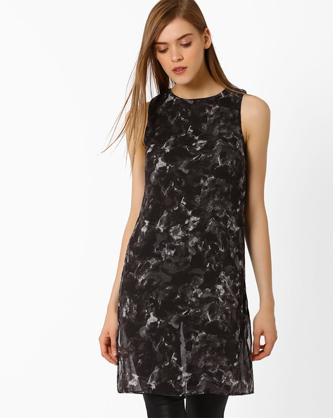Printed Sleeveless Tunic By Oxolloxo ( Blue )
