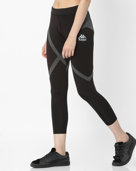 Panelled Cropped Leggings By KAPPA ( Black )