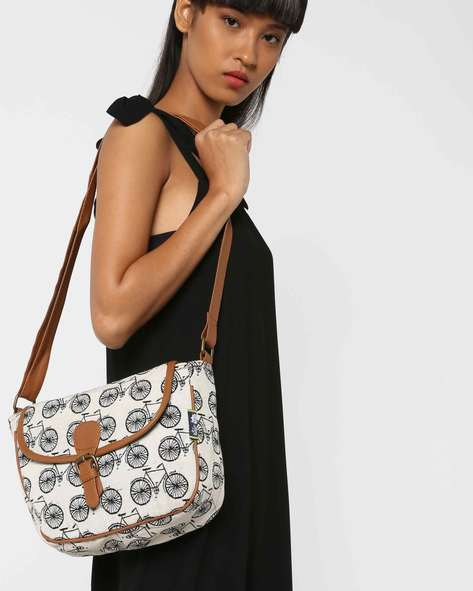 Jacquard Weave Sling Bag By Kanvas Katha ( Tan ) - 460124255001