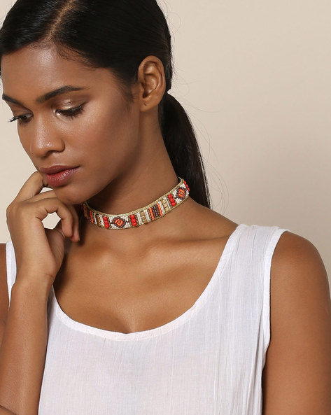 Beaded Choker Necklace By Indie Picks ( Multi ) - 460121398001