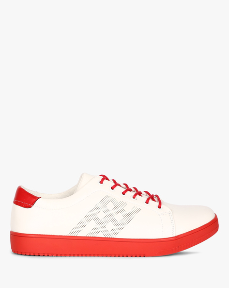 Lace-Up Sneakers With Perforations By Nuboy ( White )