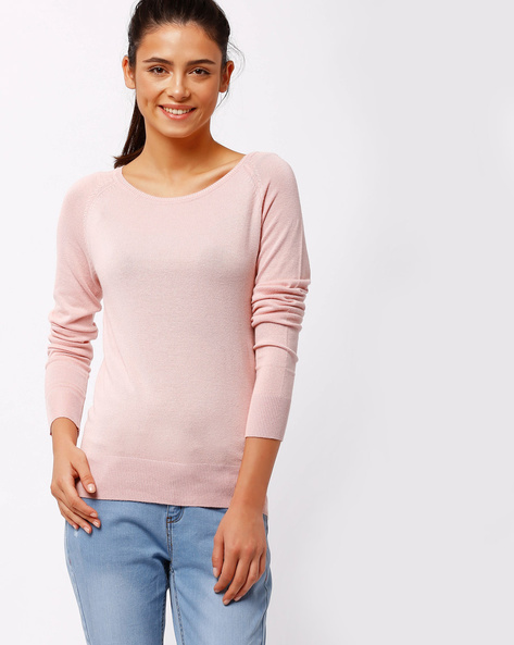 Pullover With Raglan Sleeves By FIG ( Ltpeach )
