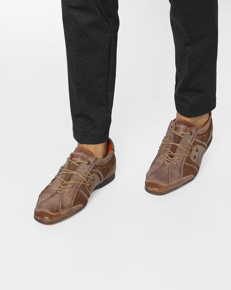 Casual Shoes With Lace-Up Fastening By BUCKAROO ( Camel )