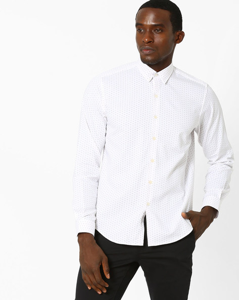 Royale Club Slim Fit Shirt By Wills Lifestyle ( Pink )