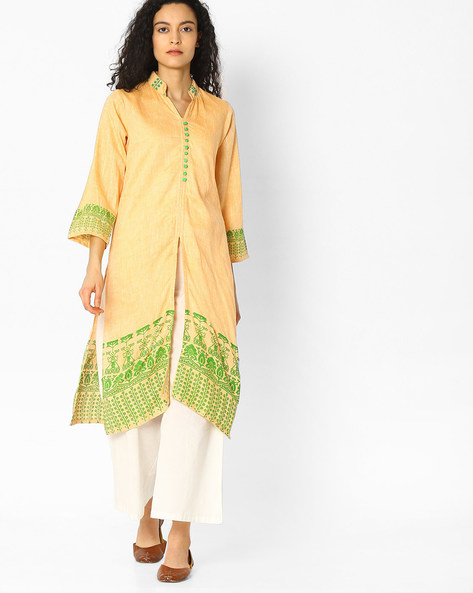 Straight Kurta With Front Slit By Mmantra ( Peach )