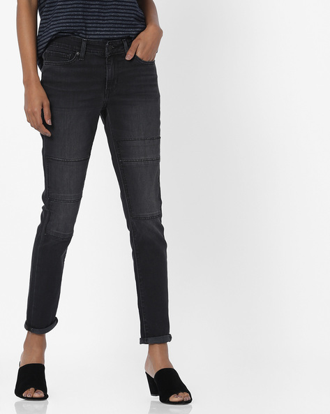 Skinny Fit Panelled Jeans By LEVIS ( Blue )