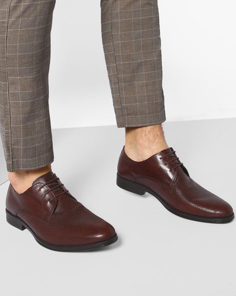 Genuine Leather Derby Shoes By RED TAPE ( Brown )