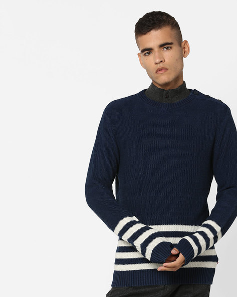 Striped Crew-Neck Pullover By LEVIS ( Blue )