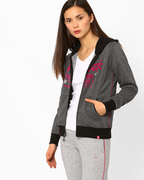 Graphic Print Sweatshirt With Hood By MONTE CARLO LADIES ( Assorted )