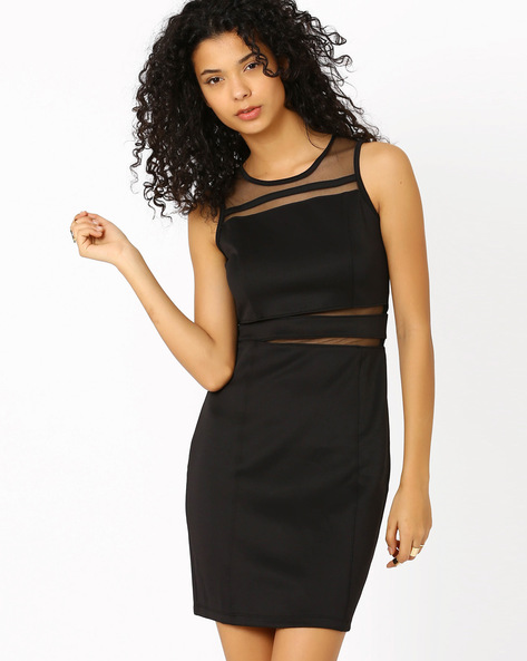 Paneled Bodycon Dress By Candies By Pantaloons ( Black )