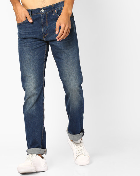 Mid-Rise 513 Straight Jeans By LEVIS ( Blue )