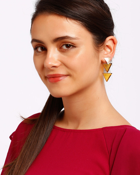 Gold-Plated Drop Earrings By Ssoul ( Yellow ) - 460008499002
