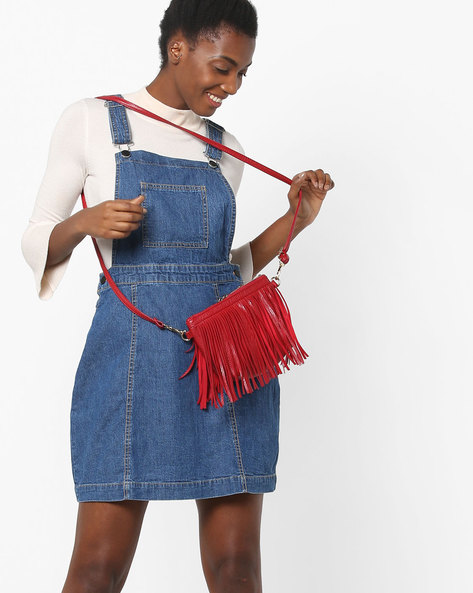 Denim Dungaree Dress With Adjustable Straps By LEVIS ( Indigo )