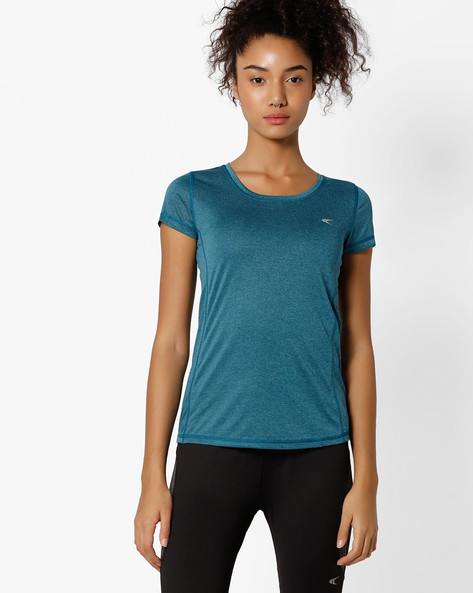 Fitness Cationic T-shirt With Quick Dry By PERFORMAX ( Dkgreen )