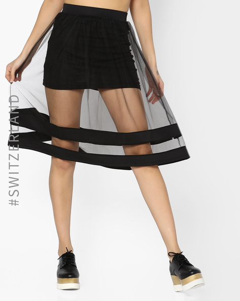 Mesh Skirt With Elasticated Waistband By TALLY WEiJL ( Black )