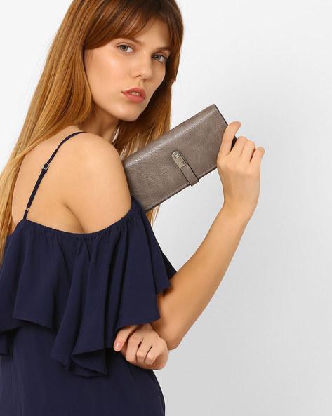 Textured Bi-Fold Wallet By Lino Perros ( Grey )