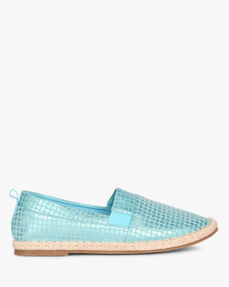 Textured Espadrilles With Gussets By AJIO ( Lightblue )