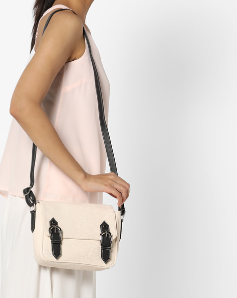 Textured Sling Bag By Toteteca ( White )