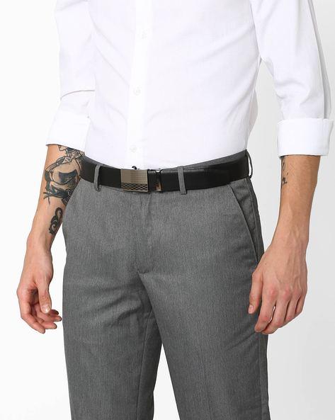 Genuine Leather Reversible Belt By TEAKWOOD LEATHERS ( Multi ) - 460071037001