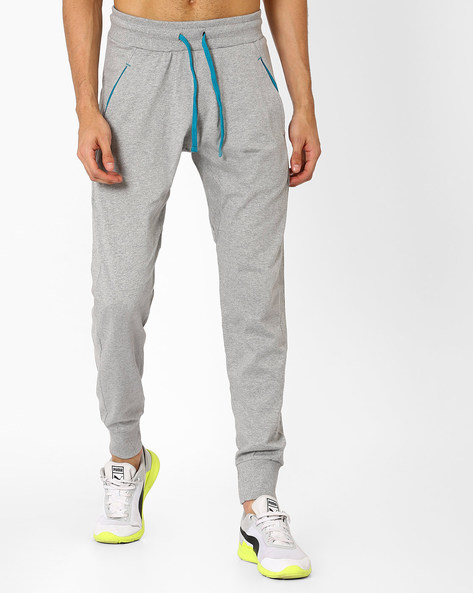 Cotton Joggers With Elasticated Waist By CHROMOZOME ( Greymelange )