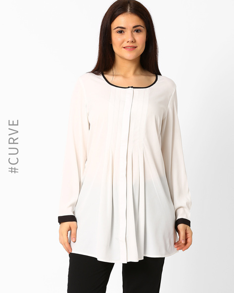 Pleat-Front Tunic By Oxolloxo ( White )