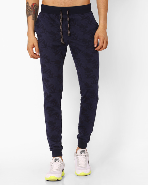 Slim Fit Camouflage Joggers By JOHN PLAYERS ( Navy )