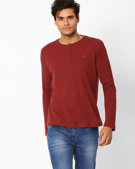 Slub Knit Henley T-shirt By SIN ( Assorted )