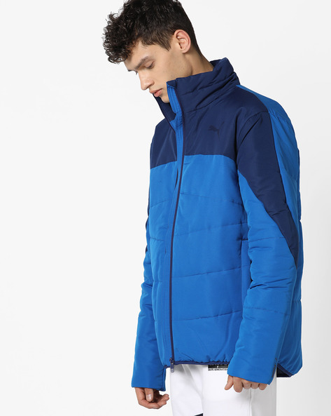 Front-Zip Padded Jacket By Puma ( Blue )