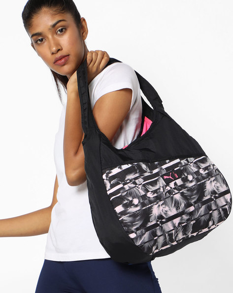 Printed Studio Hobo Bag By Puma ( Black )