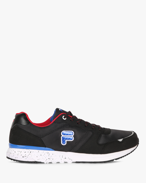 Edsel Panelled Lace-Up Shoes By FILA ( Black )