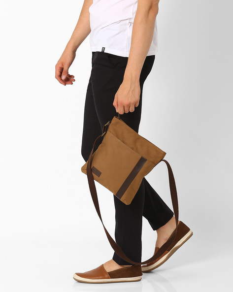 Canvas Messenger Bag By AJIO ( Brown )