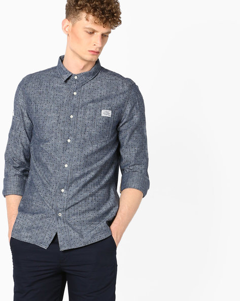 Seattle Slub Shirt With Patch Pockets By SUPERDRY ( Lqz )