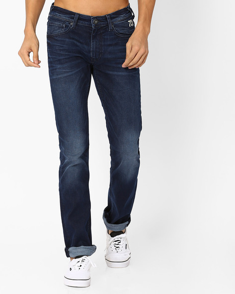 Lightly Washed Skinny Jeans By Pepe Jeans ( Blue )
