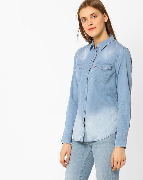 Denim Shirt With Flap Pockets By LEVIS ( Blue )