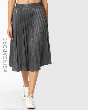 Gliitery-Midi-Skirt
