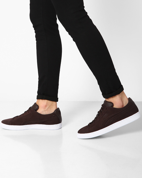 Suede Classic Embossed Sneakers By Puma ( Brown )