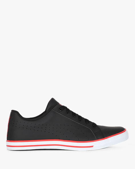 Rick Point NU IDP Lace-Up Casual Shoes By Puma ( Black )