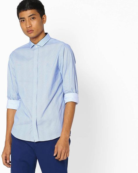 Geometric Print Slim Fit Shirt By UNITED COLORS OF BENETTON ( Assorted )
