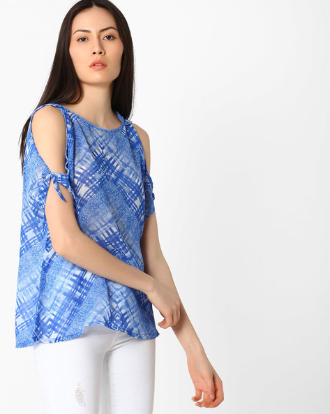 Printed Top With Cold Shoulders By And ( Printed )
