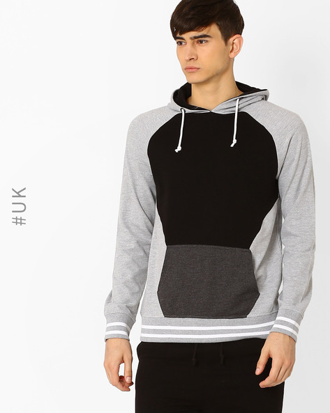 Regular Fit Cut & Sew Sweatshirt By Another Influence ( Grey )