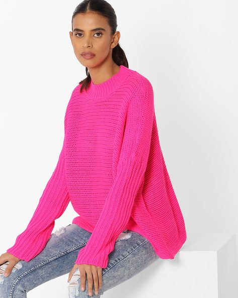 Knitted Pullover With Ribbed Neckline By Vero Moda ( Pink )