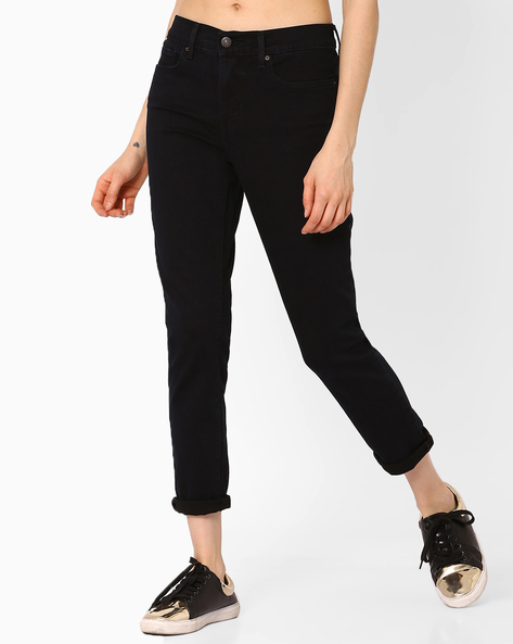 Skinny Jeans With Belt Loops By LEVIS ( Black )