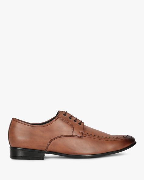Semi-Brogue Derby Shoes By SAN FRISSCO ( Brown )
