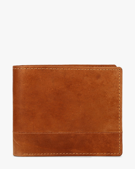 Genuine Leather Bi-Fold Wallet By TEAKWOOD LEATHERS ( Brown )