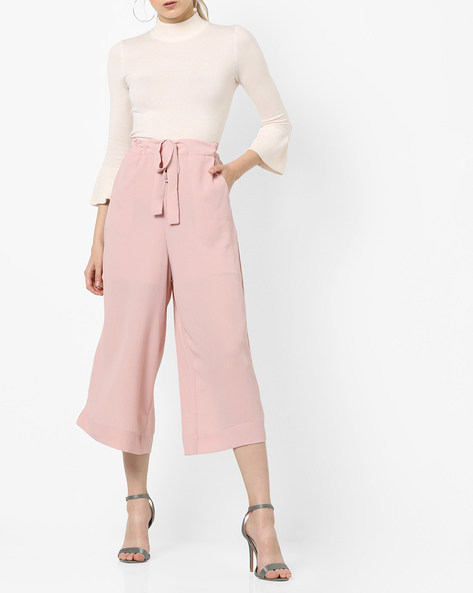 Culottes With Tie-Up By CODE By Lifestyle ( Pink )